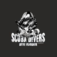 Scuba divers dive harder - Rahmenlos