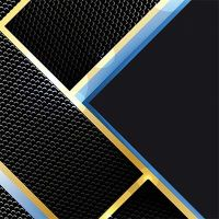 Carbon – black, blue, gold - DeinDesign