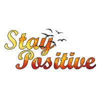 Stay Positive White - Visca Barca