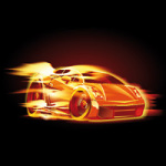 Burning Car - DeinDesign