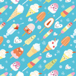Cute Icecream Faces - DeinDesign