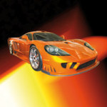 Rennwagen orange - DeinDesign
