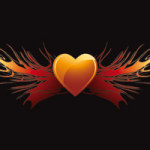 Flaming Heart Wings - DeinDesign